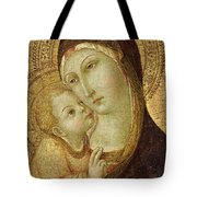 Madonna and Child Tote Bag by Ansano di Pietro di Mencio