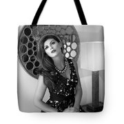 Madonna Chanel Bw Tote Bag by William Dey