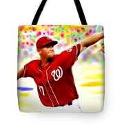 Magical Stephen Strasburg Tote Bag by Paul Van Scott