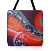 Magical Wave Fire Tote Bag by Reina Cottier
