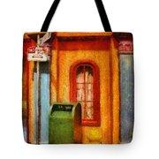 Mailman - No Parking Tote Bag by Mike Savad