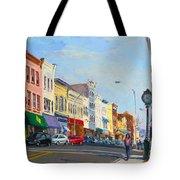 Main Street Nayck  Ny  Tote Bag by Ylli Haruni