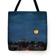 Manhattan Moonrise Tote Bag by Chris Lord