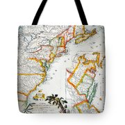 Map Of America, 1779 Tote Bag by Granger