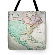 Map Of North America Tote Bag by English School
