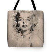 Marilyn Monroe Tote Bag by Ylli Haruni