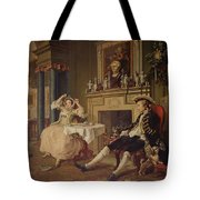 Marriage A La Mode II The Tete A Tete Tote Bag by William Hogarth