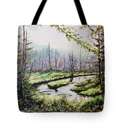 Marsh Lands Tote Bag by Richard T Pranke