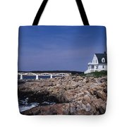 Marshall Point Light Tote Bag by Skip Willits