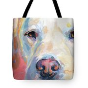 Martha's Pink Nose Tote Bag by Kimberly Santini