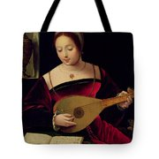 Mary Magdalene Playing The Lute Tote Bag by Master of the Female Half Lengths