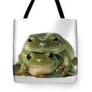 Mating Frogs Tote Bag by Darwin Wiggett