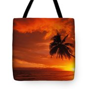 Maui, A Beautiful Sunset Tote Bag by Ron Dahlquist - Printscapes