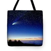 Mauna Kea Telescopes Tote Bag by D Nunuk and Photo Researchers