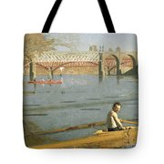 Max Schmitt In A Single Scull Tote Bag by Thomas Eakins