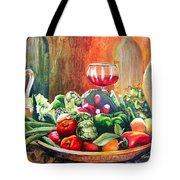 Mediterranean Table Tote Bag by Karen Stark