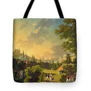 Meeting Between Napoleon I And Ferdinand IIi Tote Bag by Hippolyte Lecomte