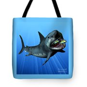 Megalodon Tote Bag by Corey Ford