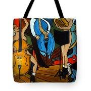 Melting Jazz Tote Bag by Valerie Vescovi