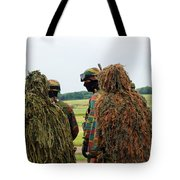 Members Of The Special Forces Group Tote Bag by Luc De Jaeger