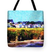 Mendocino Bluffs Tote Bag by Wingsdomain Art and Photography