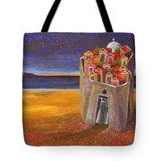 Mesi Castle Village Tote Bag by Dimitris Milionis