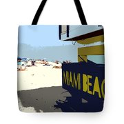 Miami Beach Work Number 1 Tote Bag by David Lee Thompson