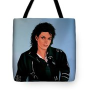 Michael Jackson Bad Tote Bag by Paul Meijering