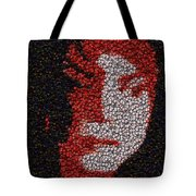 Michael Jackson Bottle Cap Mosaic Tote Bag by Paul Van Scott
