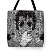 Michael Jackson Glove Montage Tote Bag by Paul Van Scott