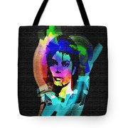 Michael Jackson Tote Bag by Mo T