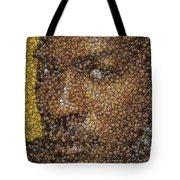 Michael Jordan Money Mosaic Tote Bag by Paul Van Scott