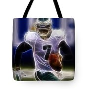 Michael Vick - Philadelphia Eagles Quarterback Tote Bag by Paul Ward
