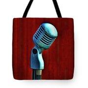 Microphone Tote Bag by Jill Battaglia