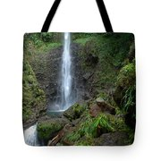 Middleham Waterfall In Dominica Tote Bag by Tropical Ties Dominica