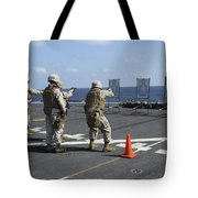 Military Policemen Train Tote Bag by Stocktrek Images