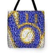 Milwaukee Brewers Mosaic Tote Bag by Paul Van Scott