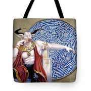 Minotaur With Mosaic Tote Bag by Melissa A Benson