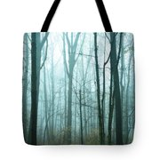Misty Forest Tote Bag by John Greim