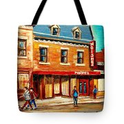 Moishes The Place For Steaks Tote Bag by Carole Spandau