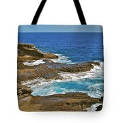 Molokai Lookout 0649 Tote Bag by Michael Peychich