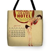 Monarch Grand Hotel Tote Bag by Cinema Photography