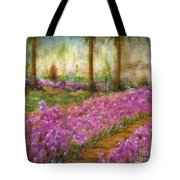 Monet's Garden In Cannes Tote Bag by Jerome Stumphauzer