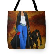 Monkeys Best Friend Tote Bag by Lance Headlee