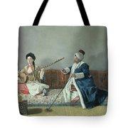Monsieur Levett And Mademoiselle Helene Glavany In Turkish Costumes Tote Bag by Jean Etienne Liotard