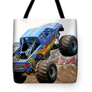 Monster Trucks - Big Things Go Boom Tote Bag by Christine Till