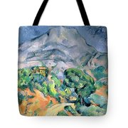 Mont Sainte Victoire Tote Bag by Paul Cezanne