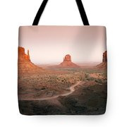 Monument Dusk Tote Bag by Mike  Dawson
