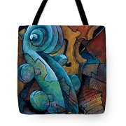 Moody Blues Tote Bag by Susanne Clark