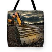 moody excavator Tote Bag by Meirion Matthias